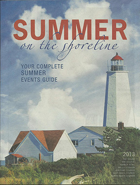aybrook Point Lighthouse is on the cover of Shoreline Publications Summer 2013 Shoreline Guide